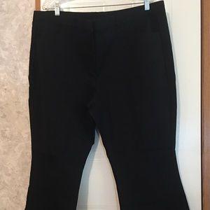 Isaac Mizrahi Live size 22WP black pants NWT